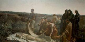 Entierro de Santa Leocadia de Cecilio Pla, presentado a la Exposición Nacional de Bellas Artes de 1887, Museo del Prado. Fuente: Wikipedia