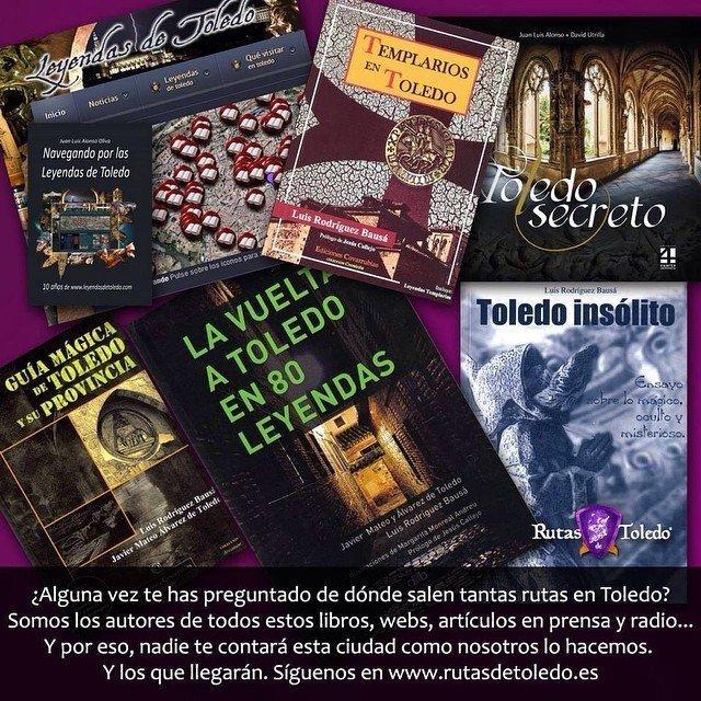 ¿De dónde salen tantas visitas guiadas diferentes en Rutas de Toledo? De los libros y artículos que ellos mismos han escrito. Algunos además los regalan en descarga gratuita por asistir a sus rutas.