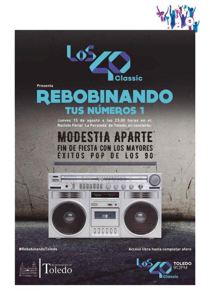 Cartel Los40 Modestia Aparte en Toledo