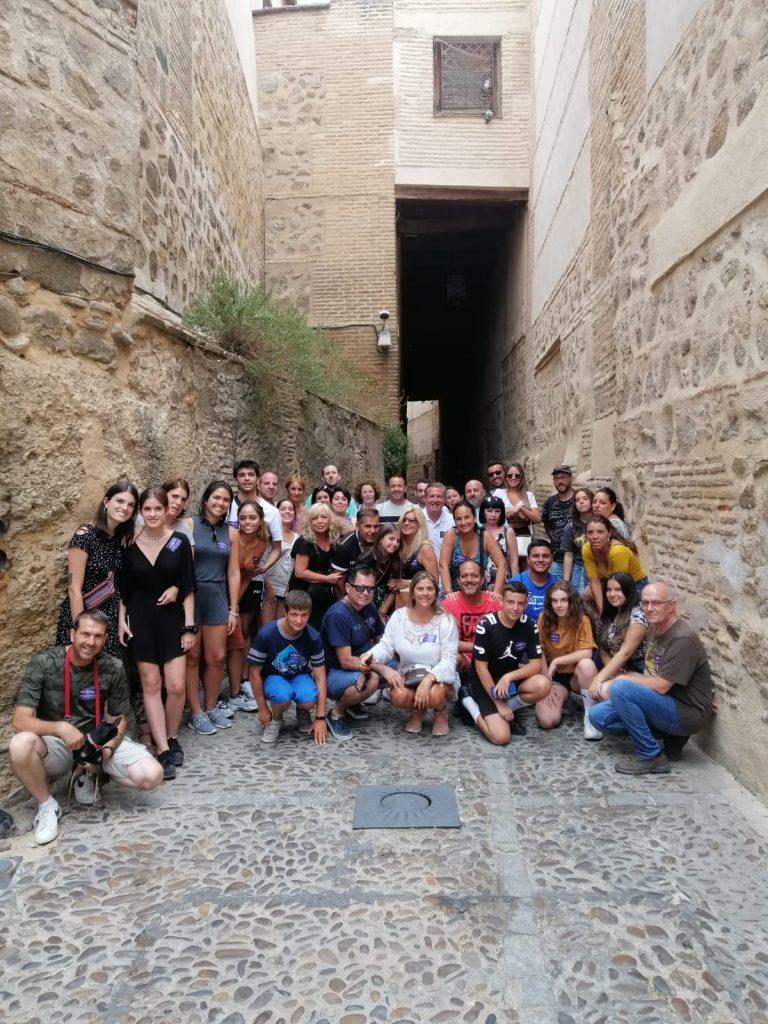 Un grupo en uno de los Free Tour de Rutas de Toledo