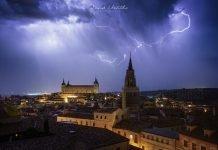Tormenta sobre Toledo el 12 de octubre de 2019