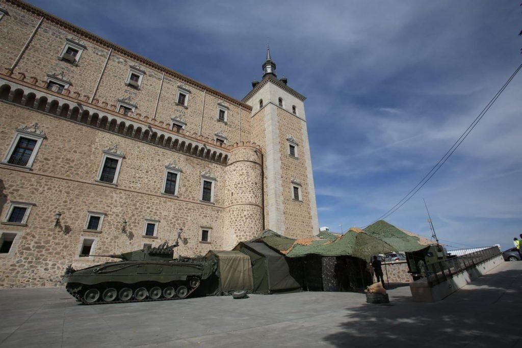El blindado en el Alcázar de Toledo