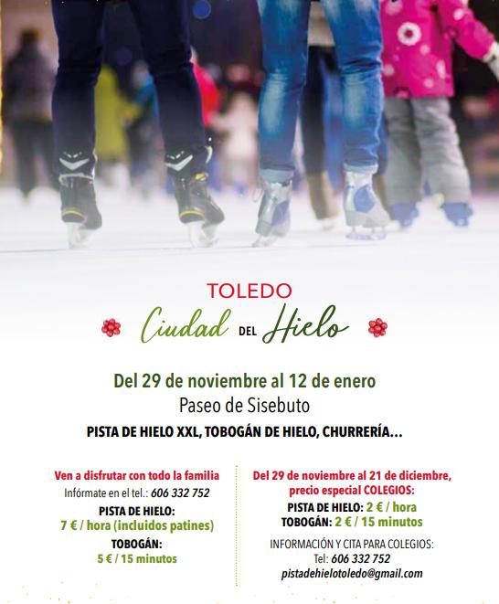 Pista de patinaje sobre Hielo. Navidad. Toledo 2019