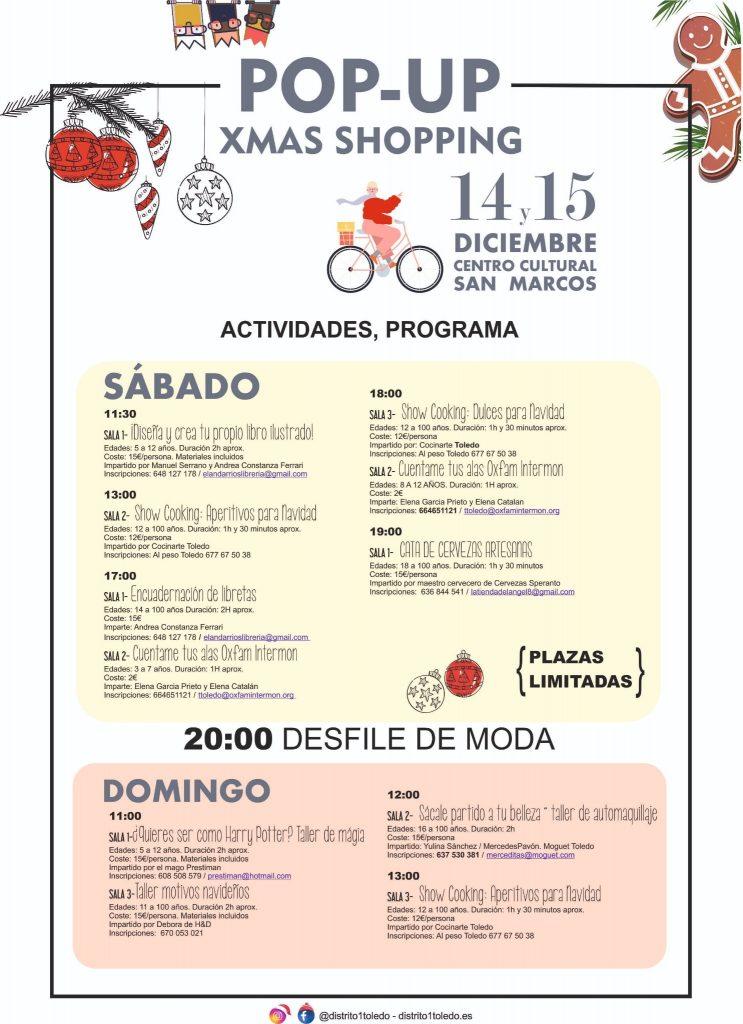 """Centro Cultural San Marcos. """"Xmas shopping"""". Actividades."""