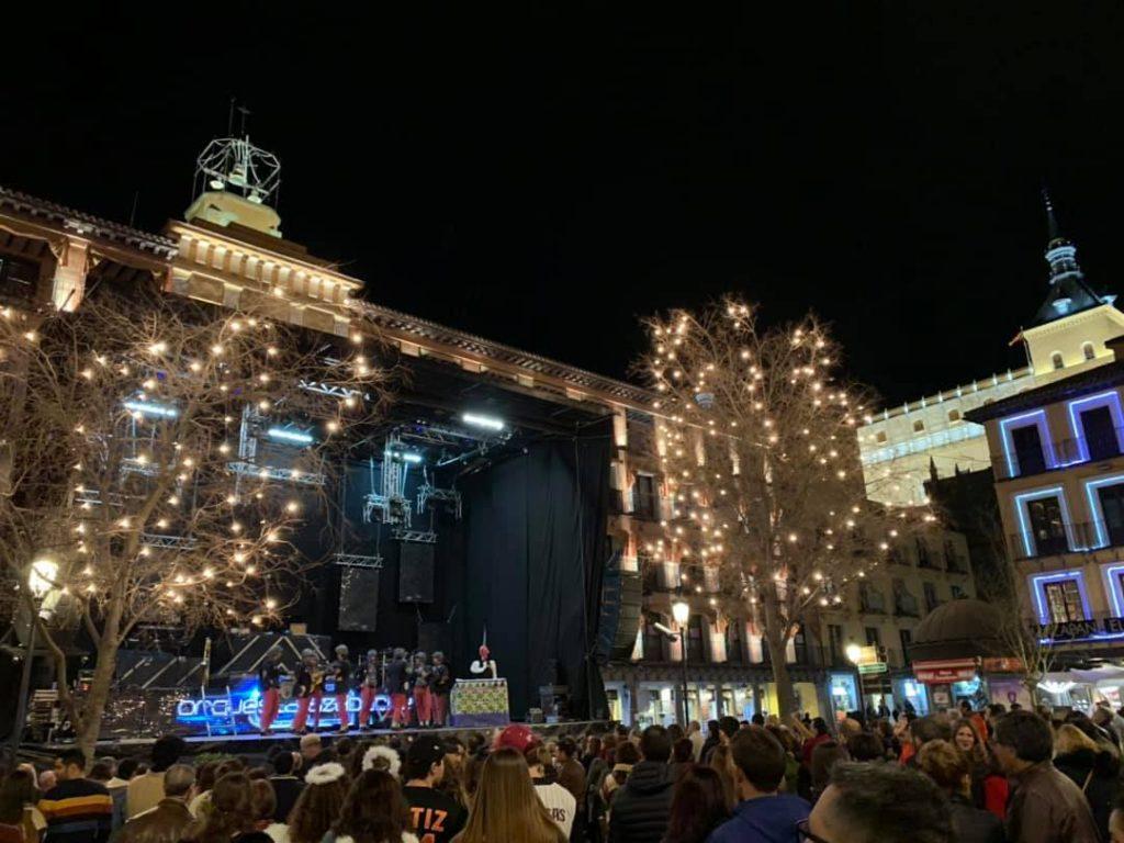 Verbena de Carnaval en la Plaza de Zocodover de Toledo, el 2 de marzo de 2019