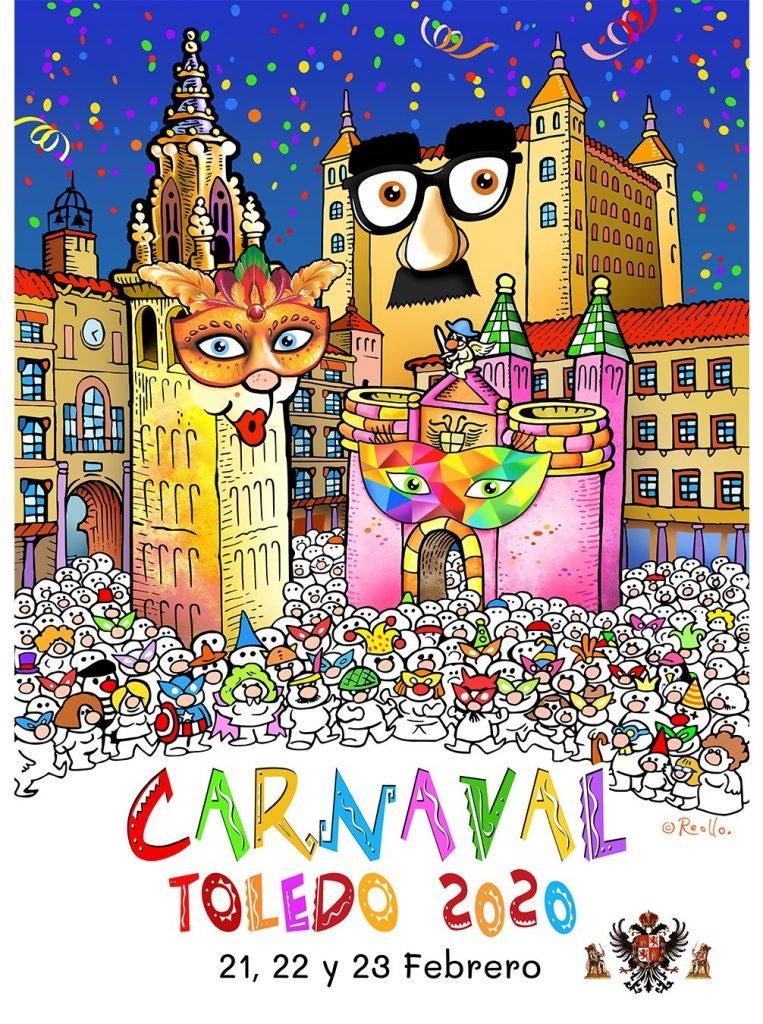 Cartel oficial del Carnaval Toledo 2020, por Toni Reollo.