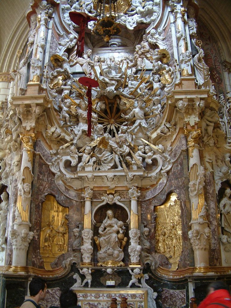 Conjunto escultórico en el Transparente de la Catedral de Toledo. Fuente: Wikipedia.