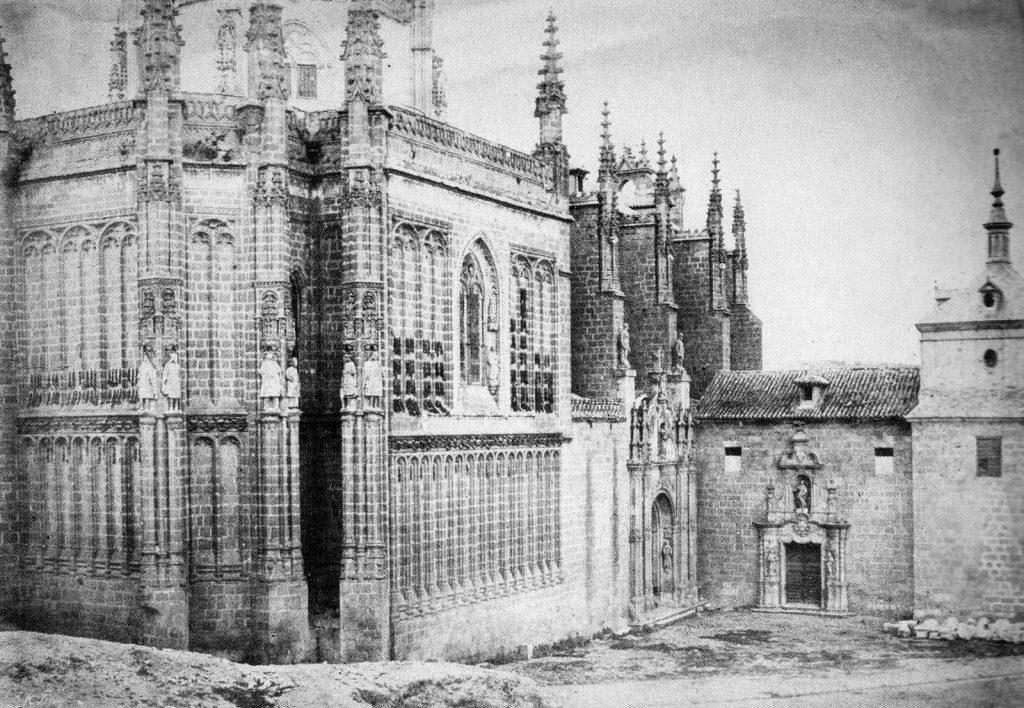Monasterio de San Juan de los Reyes (Toledo) en 1852. Calotipo de Edward King Tenison publicado en el libro Recuerdos de España. Bibliothèque Nationale de France (Paris) Fuente: Toledo Olvidado.