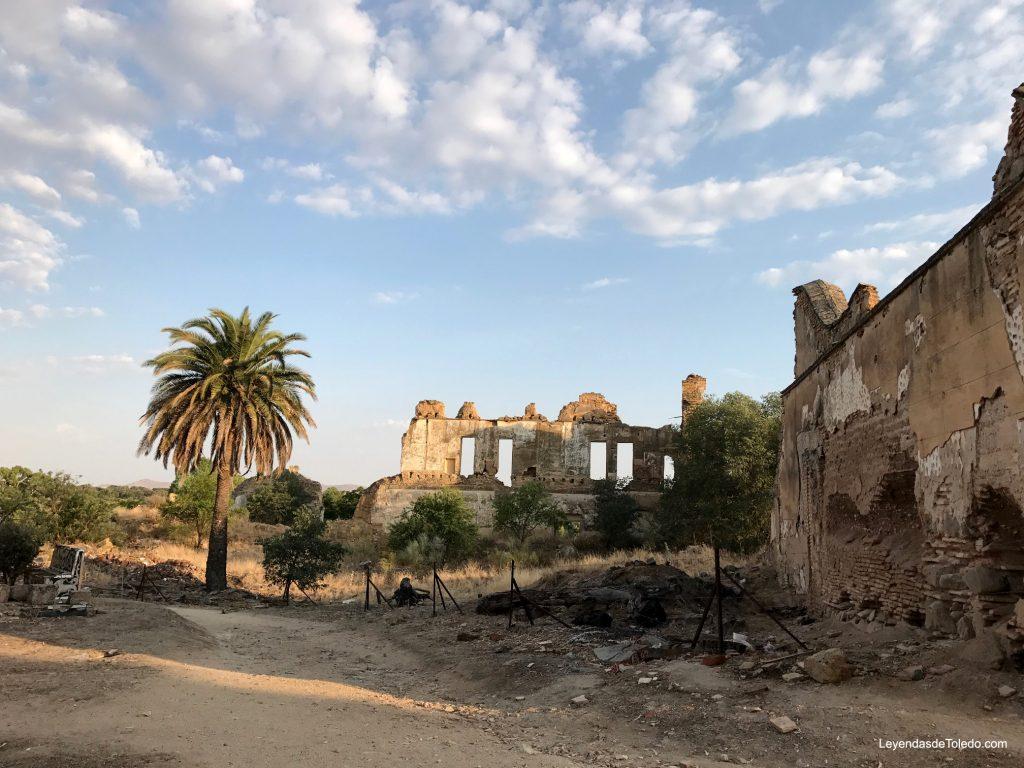 Restos del palacio de la Sisla, en Toledo.
