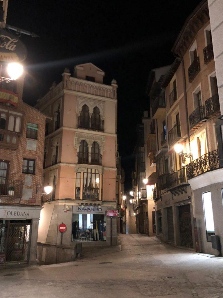 Cuatro calles en Toledo, desiertas COVID-19