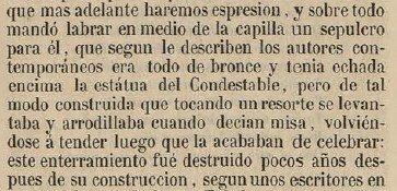 """Descripción de la estatua por Sixto Ramón Parro, en su """"Toledo en la Mano"""" en 1857"""