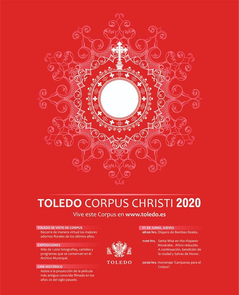 Programación. Cartel Municipal Corpus Christi 2020. Fuente: Facebook Milagros Tolón.