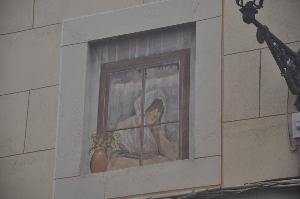 Un trampantojo en Toledo. Foto de Eloy Moreno.