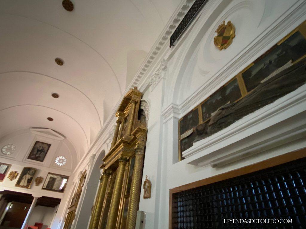 Ubicación del sepulcro y retablo de fray Martín Ruiz en la iglesia de las Concepcionistas de Toledo (25/08/2020)