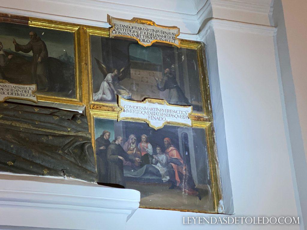 El milagro de la cesta del pan de fray Martín Ruiz, en la iglesia de las Concepcionistas de Toledo.