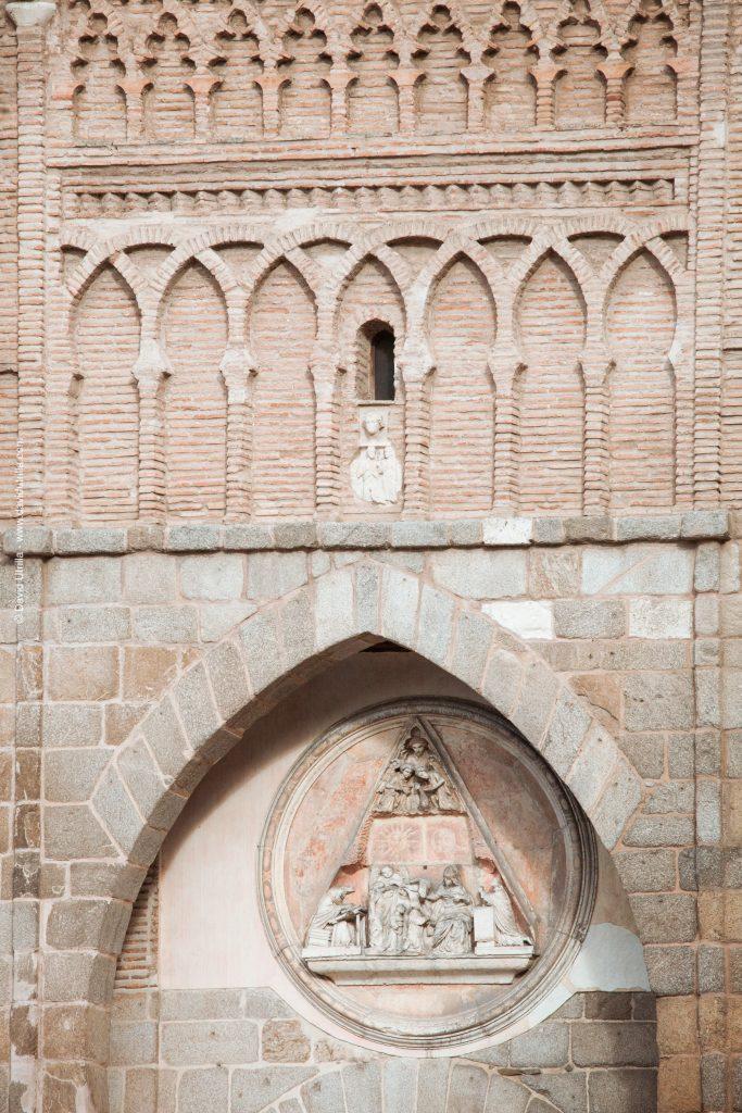 Puerta del Sol de Toledo, detalle del medallón