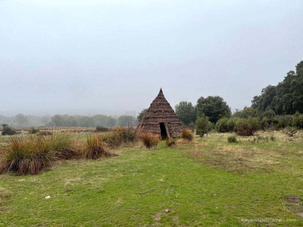 Una reconstrucción idealizada de una cabaña en Cabañeros. Aún quedan restos de las antiguas cabañas que hubo en la zona.