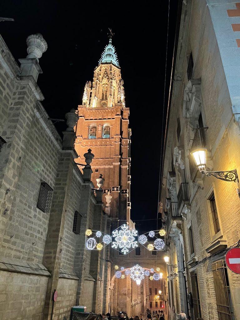 Torre de la Catedral de Toledo Navidad 2020