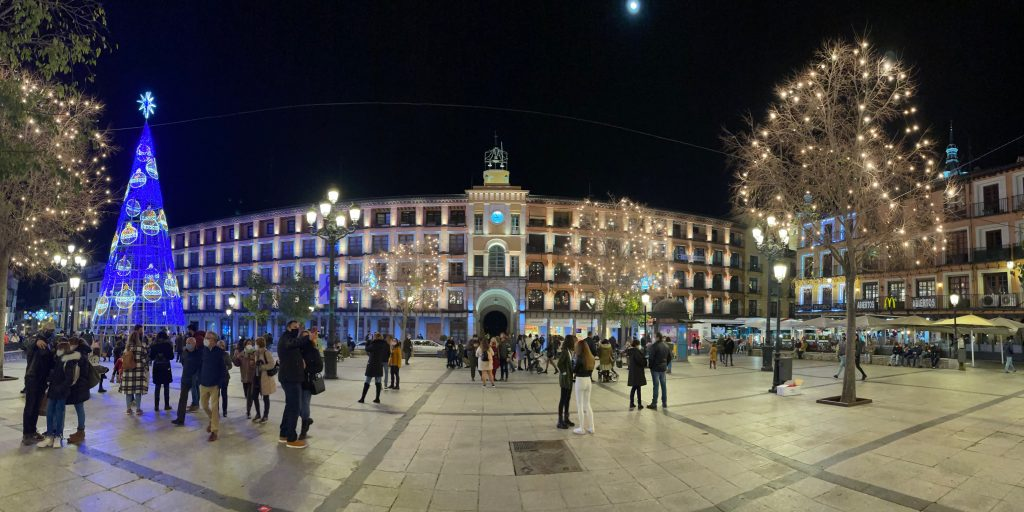 Plaza de Zocodover, Toledo. Luces de Navidad 2020