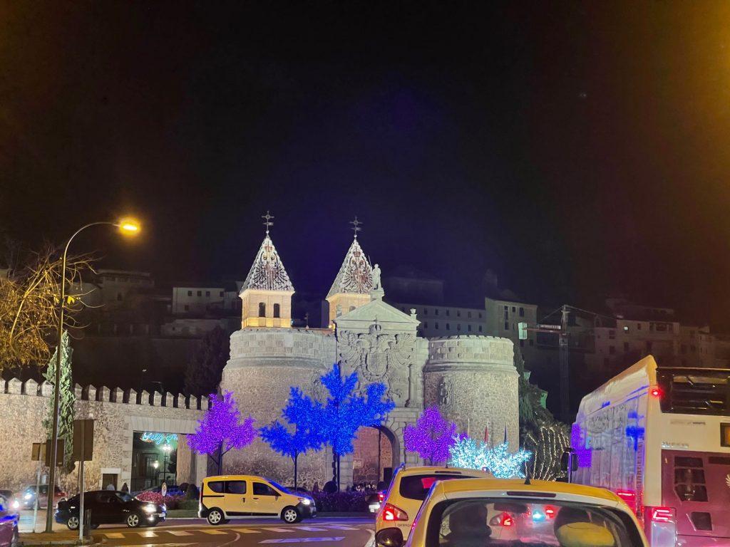 Puerta de Bisagra, luces de Navidad 2020 Toledo
