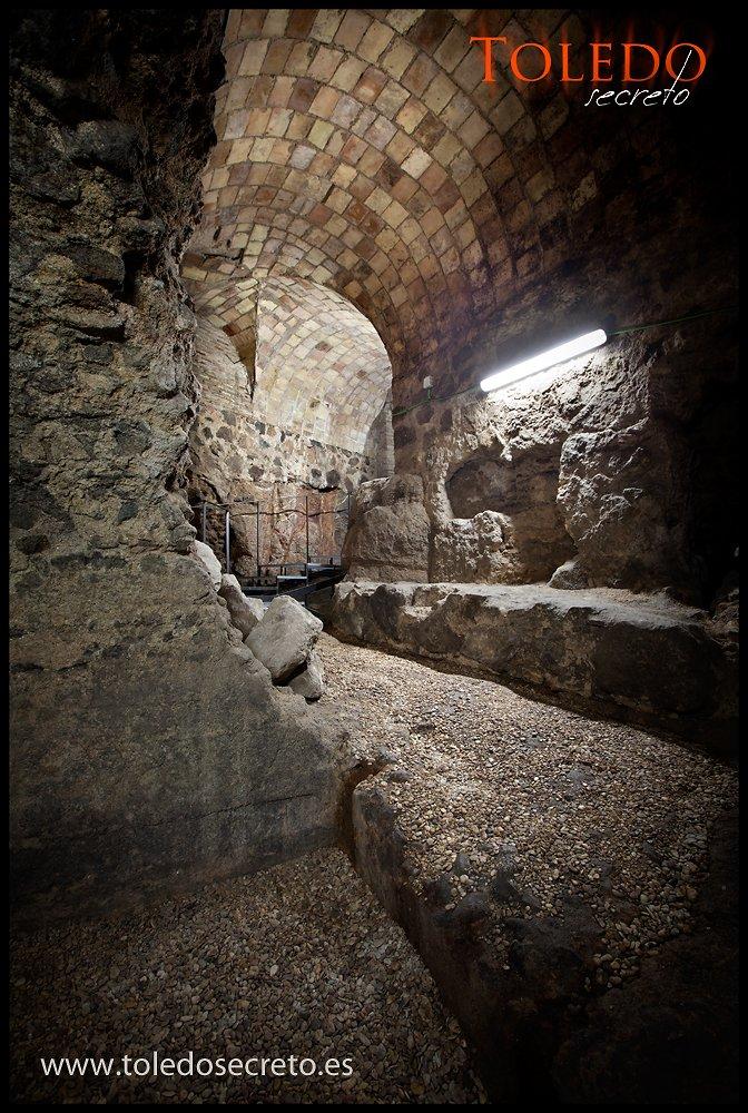 Sótanos bajo la Delegación de Hacienda de Toledo. Foto: David Utrilla