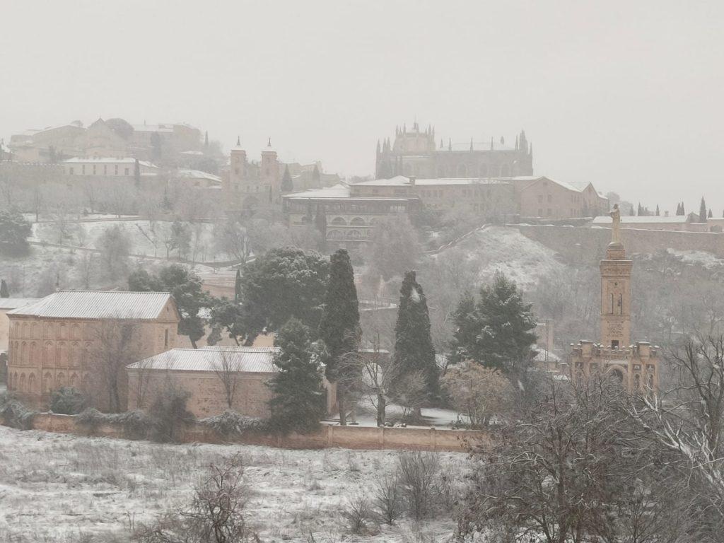 Vista de Toledo nevado. Foto: Rubén López