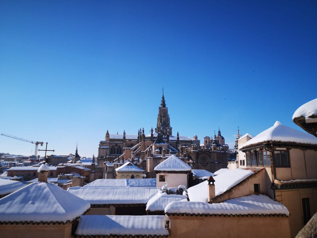 Catedral de Toledo tras la nevada de Filomena. Foto del 10/1/21 de A. Gudiel