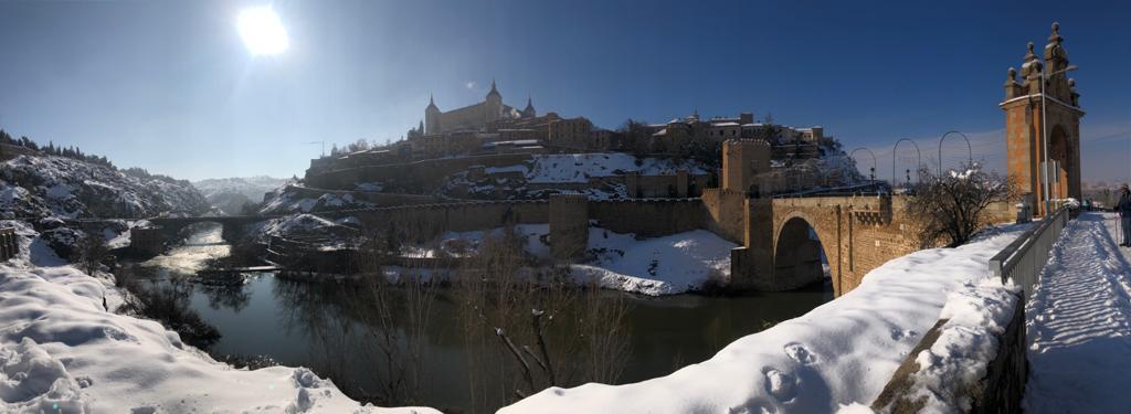 Panorámica de la nevada. Toledo. 10/01/21. Foto: Laura M. #RubiatheBest