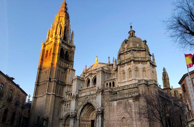 Fachada de la Catedral de Toledo, en 2018