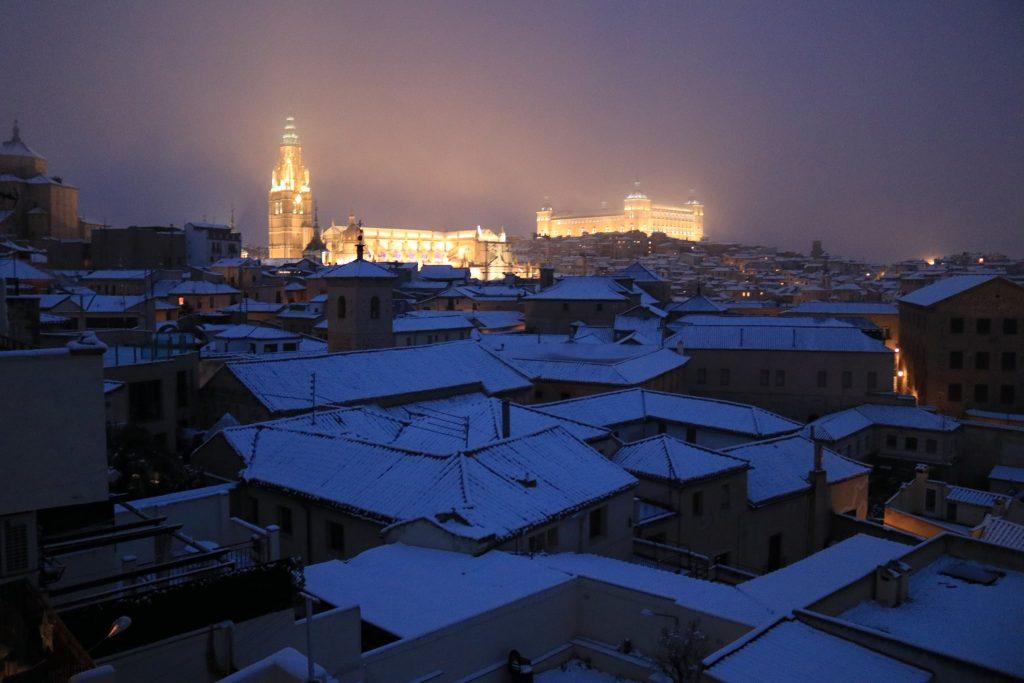 Toledo nevado. Foto: Carlos Cano 7/1/21