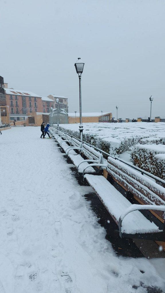 Miradero. Toledo nevado 07/01/21 a las 12:00 h. Foto: Amparo