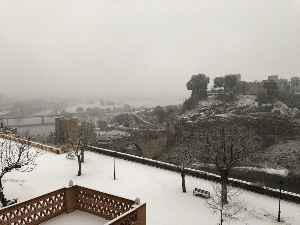 Nieve en Toledo enero 2021 - Castillo San Servando