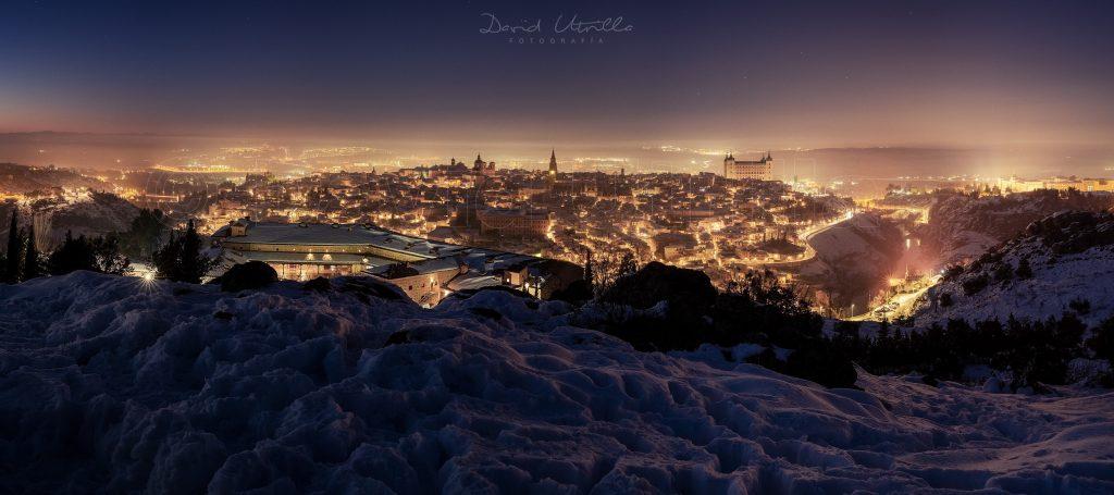 Panorámica de Toledo con nieve. Foto: David Utrilla. 14/01/21