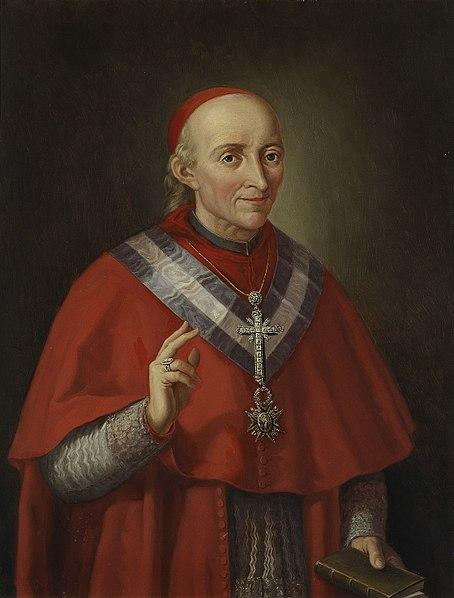 El cardenal Francisco Antonio de Lorenzana (Matías Moreno, Museo del Prado, c. 1878) Fuente: Wikipedia.