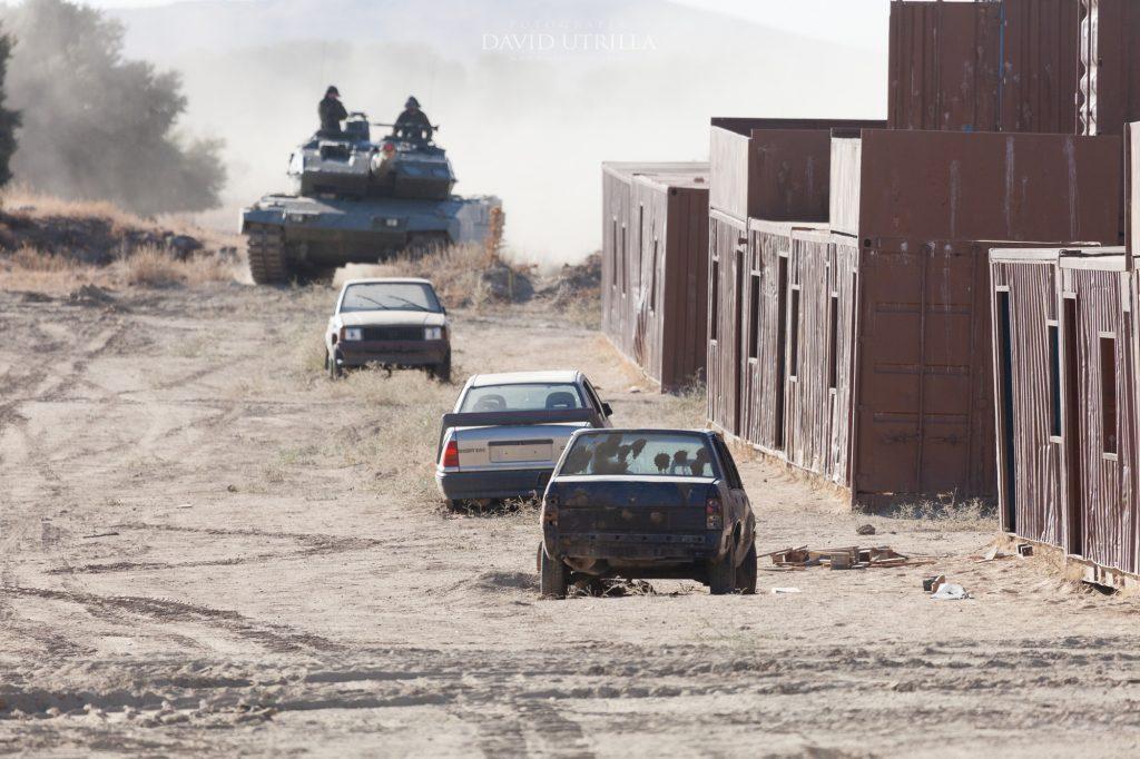 Maniobras en terrenos de la Academia de Infantería de Toledo. Foto: David Utrilla