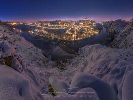 Toledo nevado 2021. Foto: Iván Ferrero