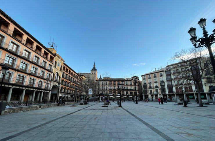 Plaza de Zocodover (Toledo) en febrero de 2021