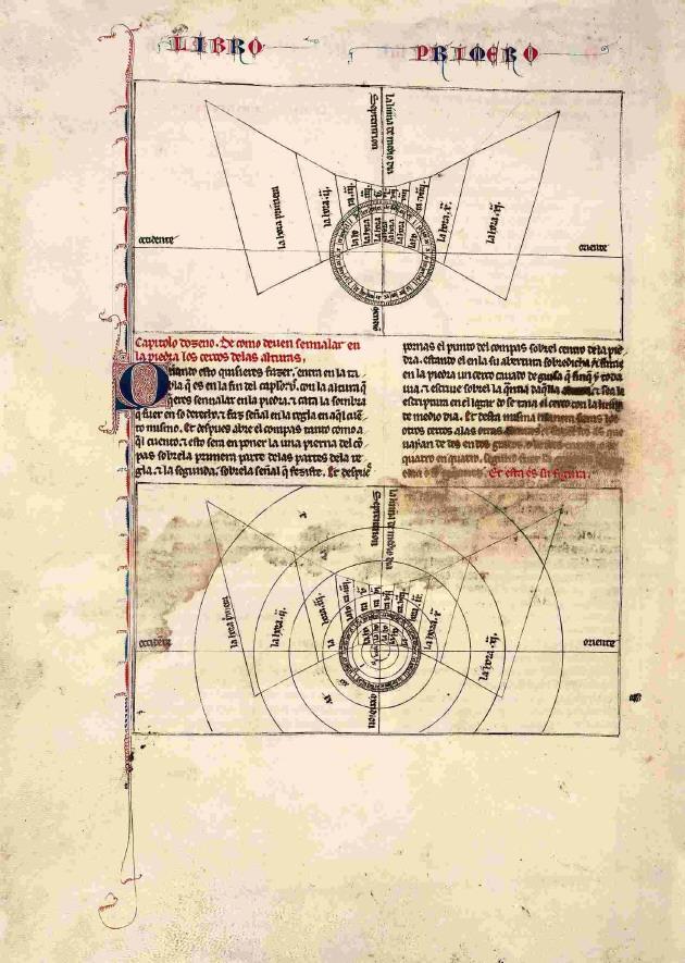 Página del Libro del saber de astrología.