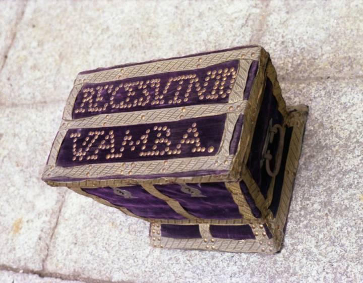 Caja que contiene los restos de Wamba y Recesvinto, en la Catedral de Toledo.