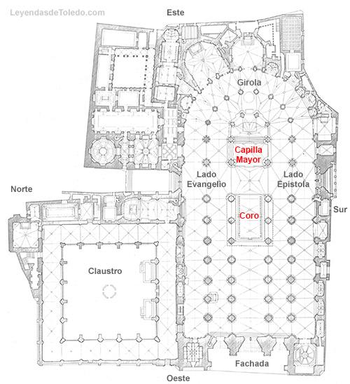 Plano: Capilla Mayor y Coro de la Catedral de Toledo.