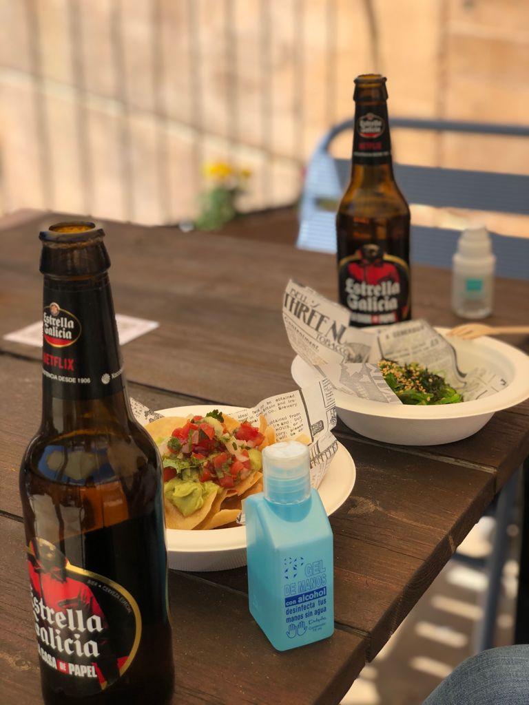 Cervezas en una terraza de bar de Toledo