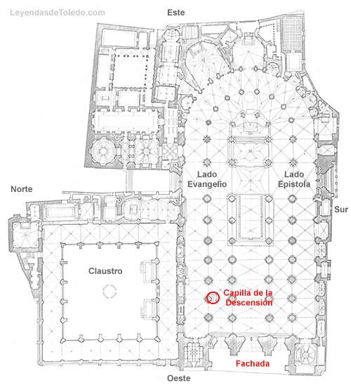 Plano: Capilla de la Descensión de la Catedral de Toledo.
