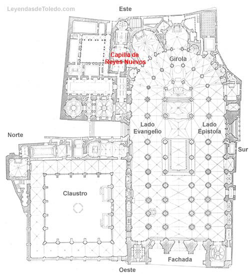 Plano: Capilla de Reyes Nuevos de la Catedral de Toledo.