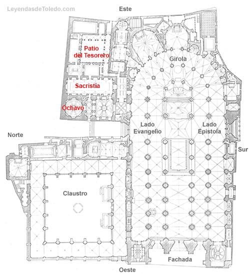 Plano: Sacristía de la Catedral de Toledo.