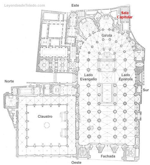 Plano: Sala Capitular de la Catedral de Toledo.