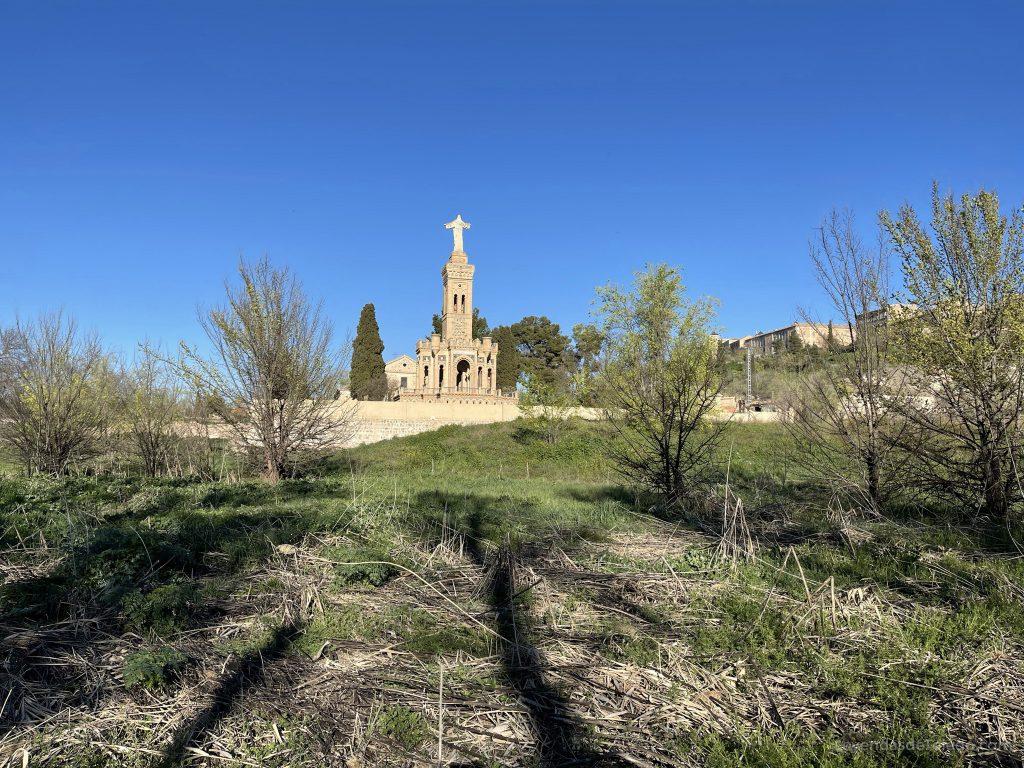 Monumento al Sagrado Corazón de Jesús (Toledo) desde la Senda Ecológica