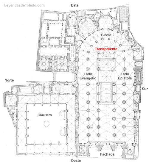 Plano: Transparente de la Catedral de Toledo.