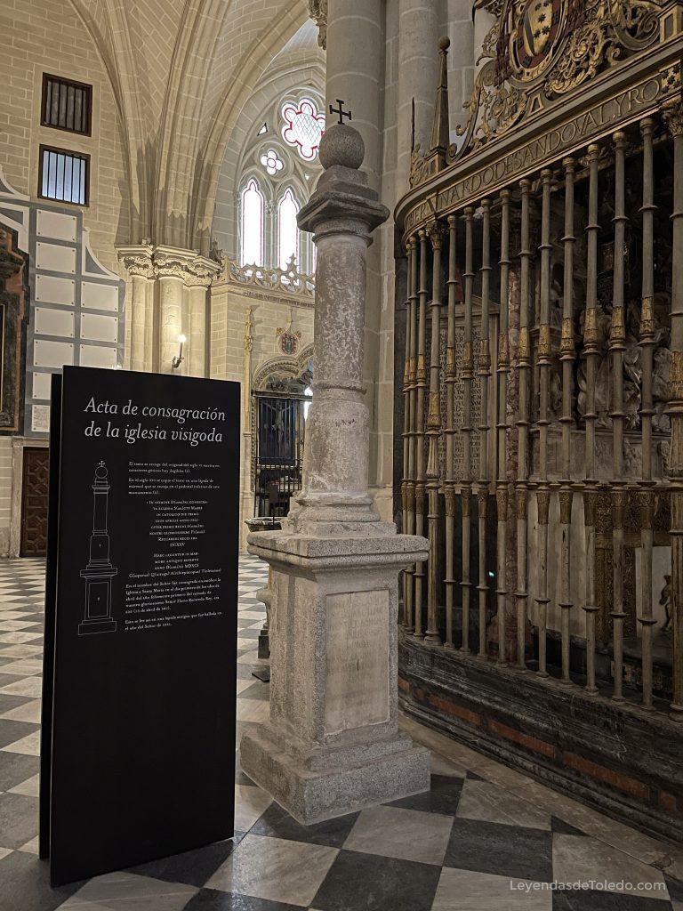 Acta de consagración de la Iglesia Visigoda de Toledo