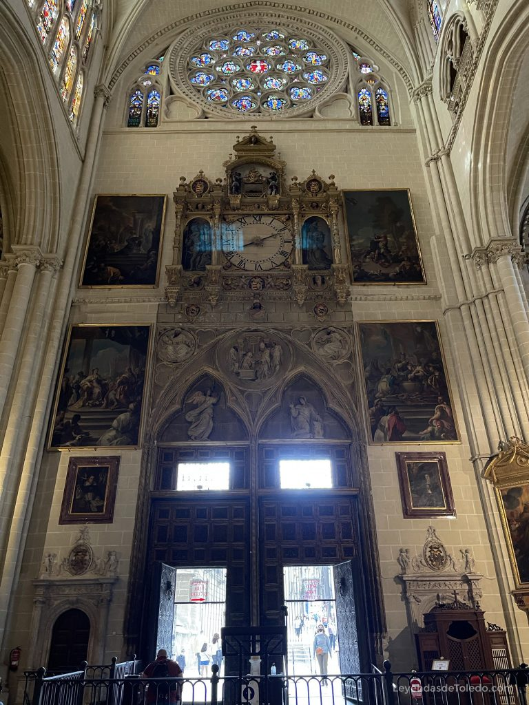 Puerta del Reloj, interior. Catedral de Toledo