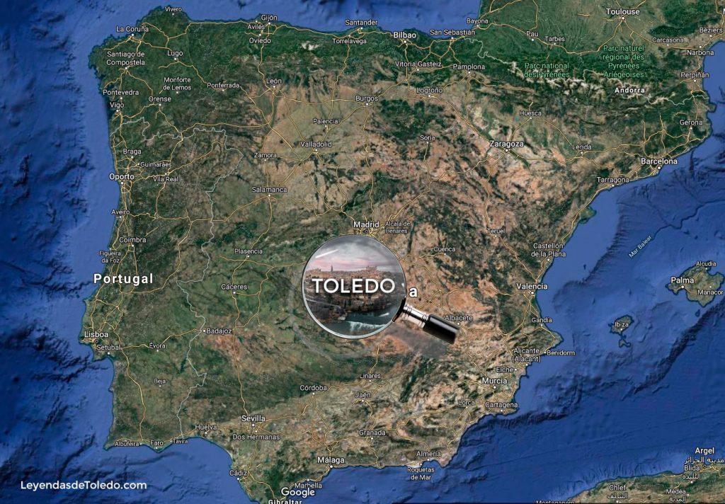 Toledo en el mapa de España